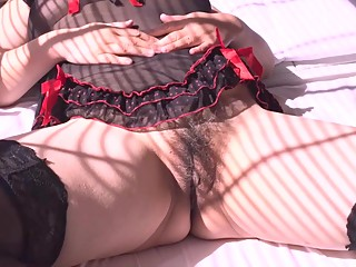 SOLO PUSSY & ASS CLOSE UP IN MY BLACK LINGERIE CLAIRE ZHANG