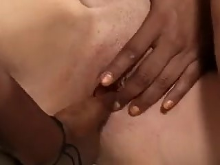 Ebony beauties Misty Stone and Ana Foxxx seduce white masseuse