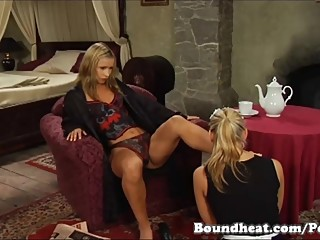 Lesbian Slave In Foot Fetish Action