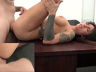 Anal Creampie 4 Lesbian MILF on Casting Couch