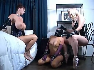 Two mistress dominating slavegirl
