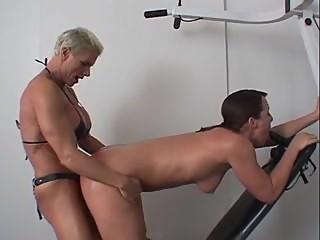 amazon woman having fun with her trainee