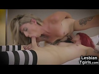Real Trans GFs Hot 69 and Anal Sex!