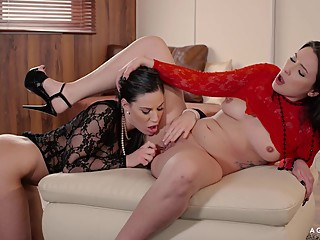 AGirlKnows - Romanian dykes love to fuck dressed in sexy lingerie