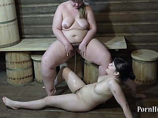 Irina urinating on girlfriend Natasha