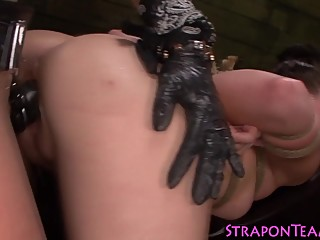 Face straddled lesbo sub