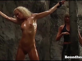 Gorgeous Naked Girl Whipped In Bondage