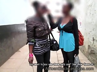Black babes from Africa have shower sex