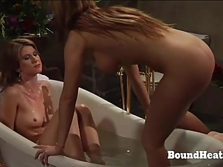 Big Titted Mistress And Slave Taking A Bath