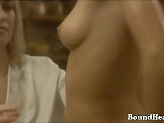 Lesbian slave seduces mistress with beautiful body