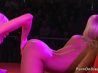 lesbian sex show in public