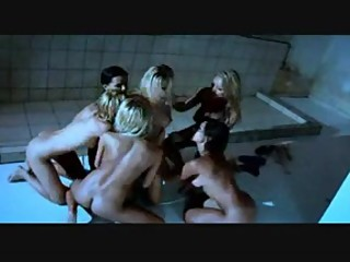 Lesbian Orgy Shower