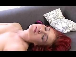 super sexy hot redhead lesbian tongue kissing and licking