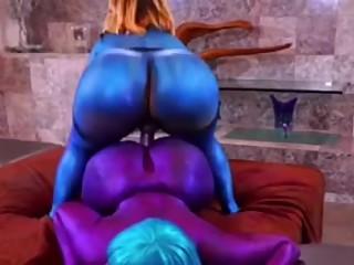 Pinky strapon fucking big ass ebony babe