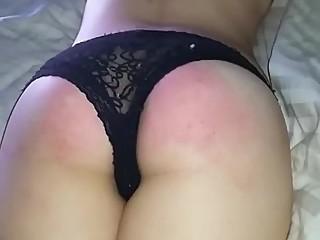 Amateur lesbian spanking