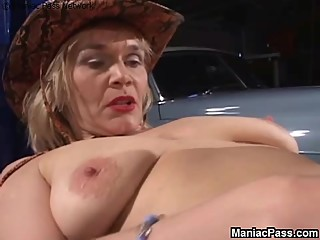 Lesbian gf seduces older woman