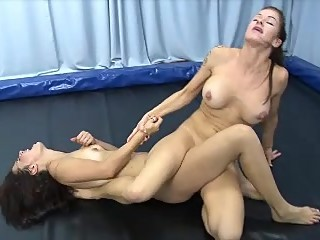 two girls tribbing to exhaustion