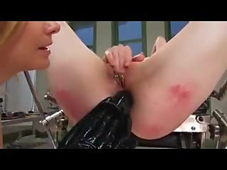 Redhead anal fisted and fucked by her MILF friend