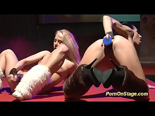 extreme hot lesbian babes on stage