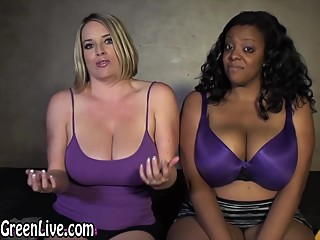 All Natural Babes Maggie Green & Kristi Play With Huge Tits!