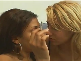 Lesbians kissing intensely for an entire hour vol.1