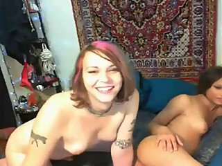 2 Lesbians sissy boy playing sex for fun