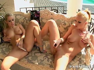 PARADISE FILMS Gorgeous Blonde Lesbians in the sun