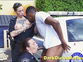 Speeding Dudes Mammoth Black Dick Sucked By Milf Policewomen