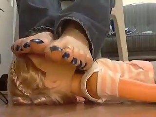 Baby Doll Smothered with beautiful Bare Feet