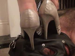 Head Trampling with various High Heels