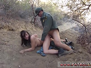 Female police officer lesbian and cops police first time Mexican border