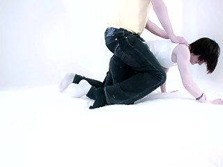 Ponygirl carries her Heavy Master around the room