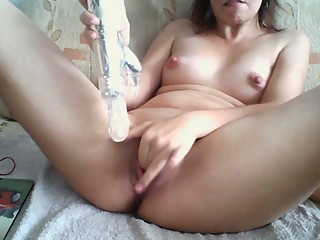 German girl fuck with toy